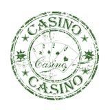 De rubberzegel van het casino Stock Afbeeldingen