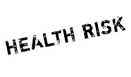De rubberzegel van het gezondheidsrisico royalty-vrije illustratie
