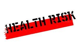 De rubberzegel van het gezondheidsrisico stock illustratie