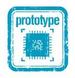 De rubberzegel van het prototype Royalty-vrije Stock Foto