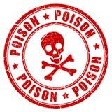De rubberzegel van het vergiftgevaar Royalty-vrije Stock Afbeeldingen