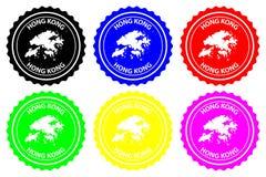 De rubberzegel van Hong Kong stock illustratie