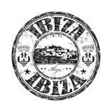 De rubberzegel van Ibiza grunge Stock Foto