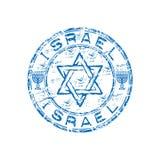 De rubberzegel van Israël grunge Stock Fotografie
