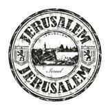 De rubberzegel van Jeruzalem grunge Stock Afbeeldingen