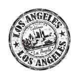 De rubberzegel van Los Angeles grunge Stock Foto