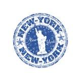 De rubberzegel van New York stock illustratie