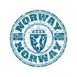 De rubberzegel van Noorwegen grunge stock illustratie