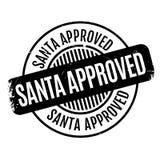 De rubberzegel van Santa Approved stock afbeelding