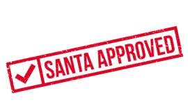 De rubberzegel van Santa Approved royalty-vrije stock afbeeldingen