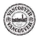 De rubberzegel van Vancouver grunge Stock Afbeeldingen