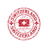 De rubberzegel van Zwitserland grunge Stock Foto's