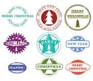 De rubberzegels van Kerstmis stock illustratie