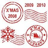 De rubberzegels van Kerstmis Stock Afbeeldingen