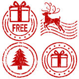 De rubberzegels van Kerstmis Stock Fotografie