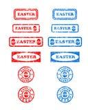 De rubberzegels van Pasen Stock Afbeeldingen