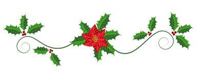 De rubriek van het Kerstmisweb, het ontwerp van de paginagrens Royalty-vrije Stock Afbeeldingen