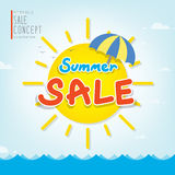 De rubriekontwerp van de de zomerverkoop voor banner of affiche Verkoop en discou Royalty-vrije Stock Afbeeldingen
