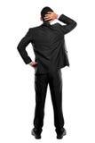 De rug stelt van een bedrijfspersoon het denken Royalty-vrije Stock Afbeelding