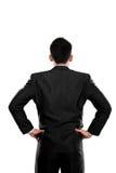 De rug stelt van een bedrijfspersoon het denken Royalty-vrije Stock Fotografie