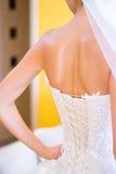 De rug van de bruid Stock Fotografie