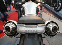 De rug van de motorfiets Stock Afbeeldingen
