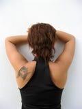 De rug van de vrouw Stock Afbeelding