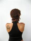 De rug van de vrouw Stock Foto's