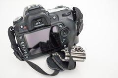 De rug van een DSLR-camera stock afbeelding