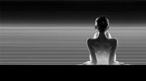 De rug van een schitterende vrouw Stock Afbeelding