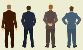 De rug van zakenlieden Stock Fotografie