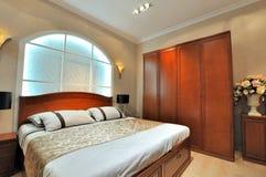 De ruimte en het meubilair van het beddegoed Royalty-vrije Stock Afbeeldingen