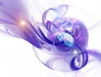 De ruimte is in fractal royalty-vrije illustratie