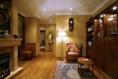 De ruimte rijke persoon van de woning in klassieke stijl Stock Afbeeldingen
