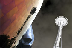 De ruimte samenvatting van de Naald. Seattle, Washington. Royalty-vrije Stock Foto
