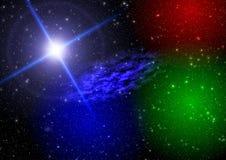De ruimte van de abstractie. mystiek licht vector illustratie