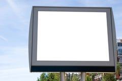 De Ruimte van de advertentie dichtbij een straat stock foto's