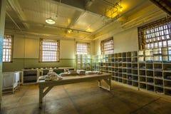 De ruimte van de Alcatrazwasserij Stock Fotografie