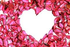 De ruimte van de de vormtekst van het hart stock foto