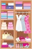De ruimte van de garderobe. Meubilair Royalty-vrije Stock Afbeeldingen