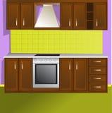 De ruimte van de keuken royalty-vrije illustratie