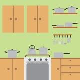 De ruimte van de keuken. Stock Fotografie