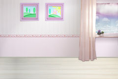 De ruimte van de kinderen van meisjes Royalty-vrije Stock Afbeeldingen