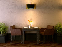 De ruimte van de koffie Stock Afbeelding