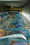 De ruimte van de motor van de strépy-Thieu bootlift Royalty-vrije Stock Fotografie