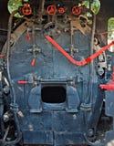 De ruimte van de motor van zeer oude stoomtrein Stock Afbeelding