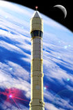 De ruimte van de raket Stock Foto