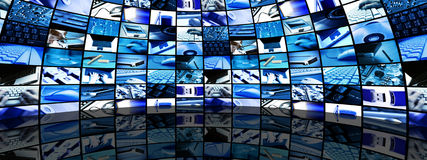 De ruimte van de technologie Stock Afbeeldingen