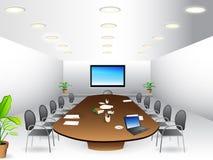 De ruimte van de vergadering - bestuurskamer stock illustratie