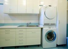 De ruimte van de wasserij Stock Foto
